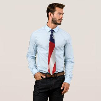 American Flag Waving Tie