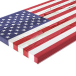 American Flag Weathered Paint Stretched Canvas Prints