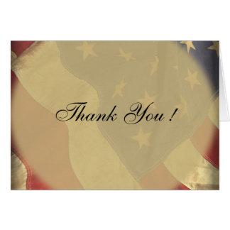 American Flag Wedding Blank Thank You Cards