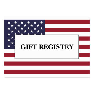 American Flag Wedding Gift Registry Pack Of Chubby Business Cards