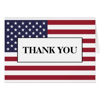 American Flag Wedding Thank You Card