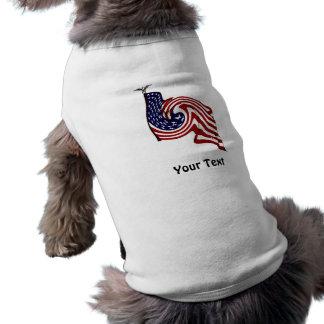 American Flag Whirlwind Flow Dog Jacket Sleeveless Dog Shirt