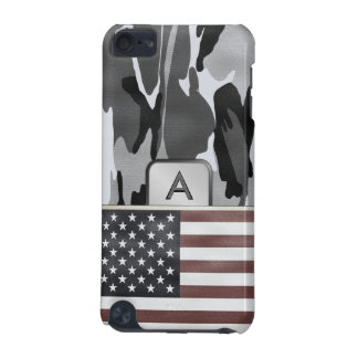 American Flag Winter Camo MonoGram iPod Touch 5G Case