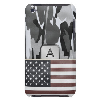 American Flag Winter Camo MonoGram iPod Touch Case
