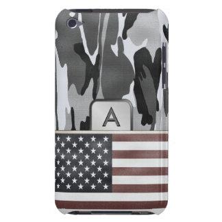 American Flag Winter Camo MonoGram iPod Touch Case