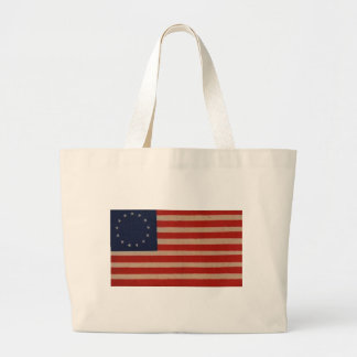 American Flag with 13 Stars - Betsy Ross Design Canvas Bags