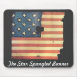 American Flag with 15 Stars - Star Spangled Banner Mouse Mat