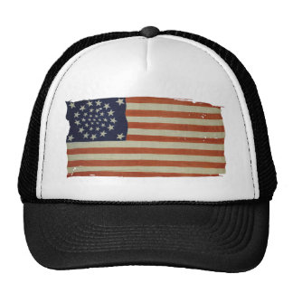 American Flag with 34 Stars Cap