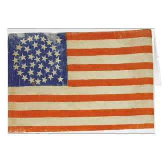 American Flag with 38 Stars Greeting Card
