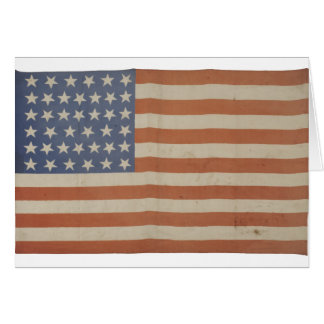 American Flag with 39 Stars Card