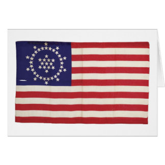 American Flag with 48 Stars Whipple Greeting Cards