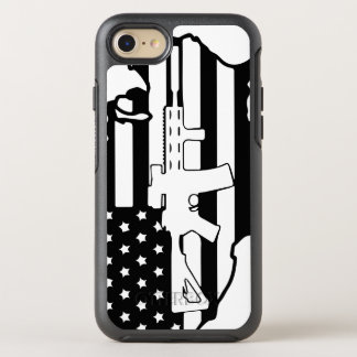 American Flag with AR gun otterbox OtterBox Symmetry iPhone 7 Case