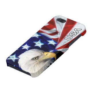 American Flag with Bald Eagle iPhone 5 Cover