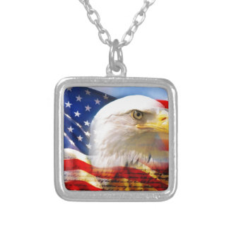 American Flag with Bald Eagle Custom Jewelry