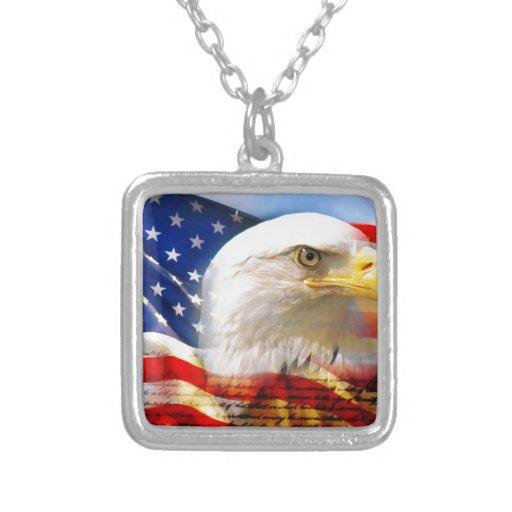 American Flag with Bald Eagle Custom Jewelry