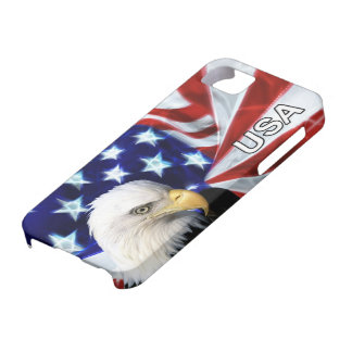 American Flag with Bald Eagle Patriotic iPhone 5 Covers