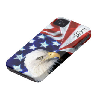 American Flag with Bald Eagle Patriotic iPhone 4 Covers