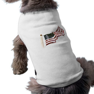 American Flag with Crosses Doggie Shirt