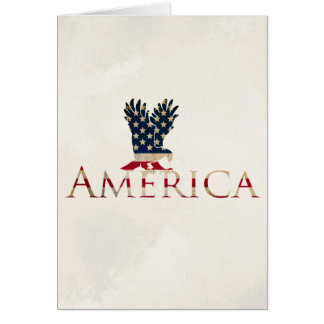 American Flag with Eagle - America Patriotism Card