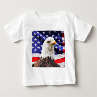 American Flag with Eagle Baby T-Shirt