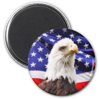 American Flag with Eagle Magnet