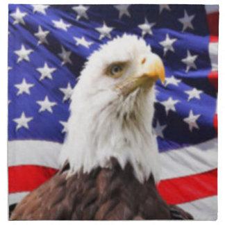 American Flag with Eagle Napkin
