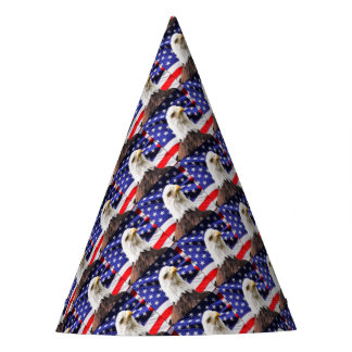 American Flag with Eagle Party Hat