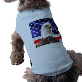 American Flag with Eagle Sleeveless Dog Shirt