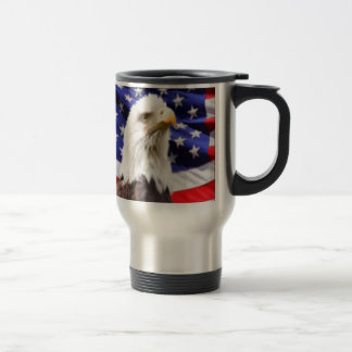 American Flag with Eagle Travel Mug