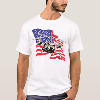 American Flag with Helicopters T-Shirt