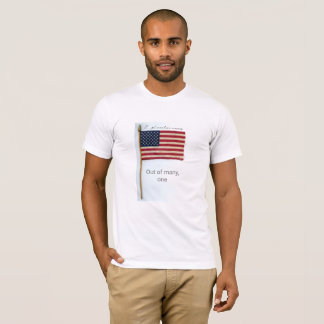 American Flag With Motto T-Shirt