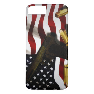 American flag with pistol iPhone 7 plus case