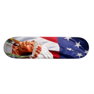 American Flag with Sitting Bull Skateboard