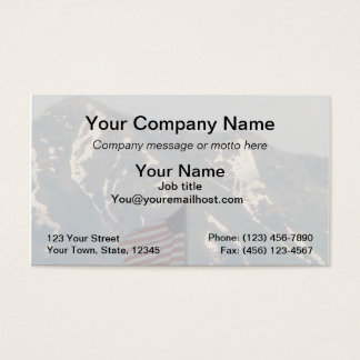 American Flag with Utah Mountain Background Business Card