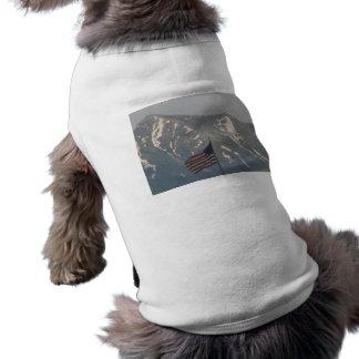 American Flag with Utah Mountain Background Dog Shirt