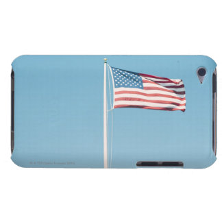 American flag with vintage look iPod touch case