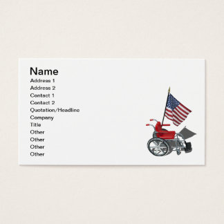 American Flag with Wheelchair