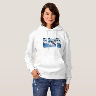 American Flag Women's Hooded Sweater