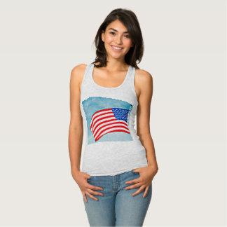 American Flag Women's Racerback Tank Top