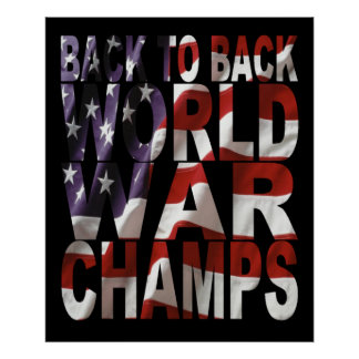 American Flag World War Champs Poster