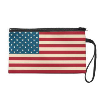 American Flag Wristlet Bag
