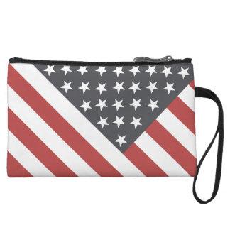 American Flag Wristlet Clutch