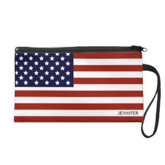 American Flag Wristlet Purses