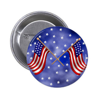 American Flags 6 Cm Round Badge