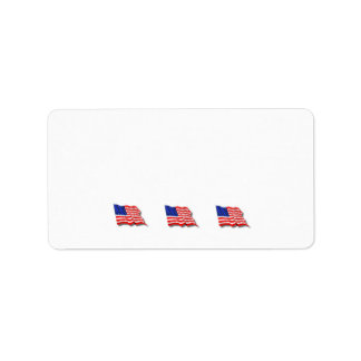 American Flags Address Label