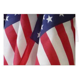American Flags Blank Greeting Card