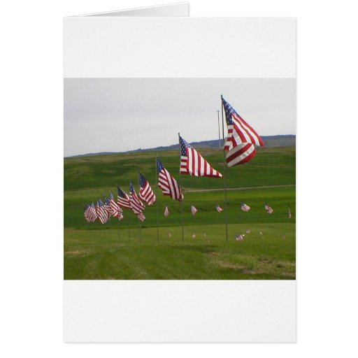 American flags greeting cards