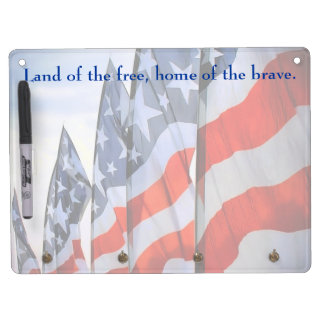 American Flags Dry Erase Boards