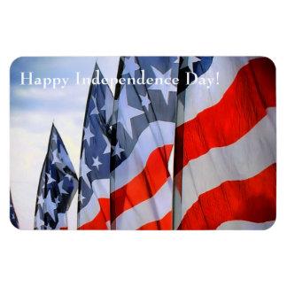 American Flags Rectangular Photo Magnet