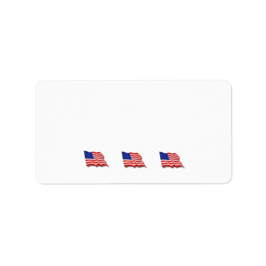 American Flags Label